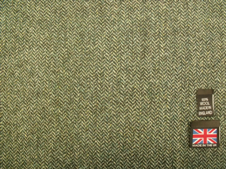 100% Wool Shetland Tweed Herringbone Fabric  AZ46